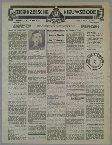 Zierikzeesche Nieuwsbode 1940-01-08