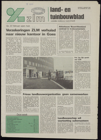 Zeeuwsch landbouwblad ... ZLM land- en tuinbouwblad 1991-01-04