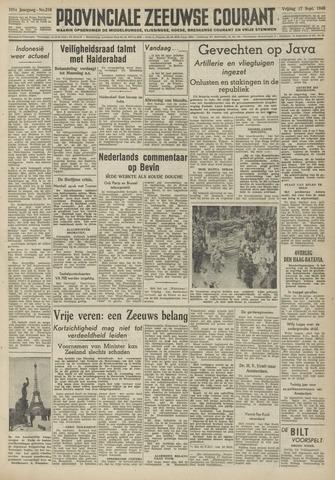Provinciale Zeeuwse Courant 1948-09-17