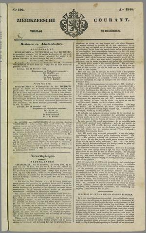 Zierikzeesche Courant 1844-12-20