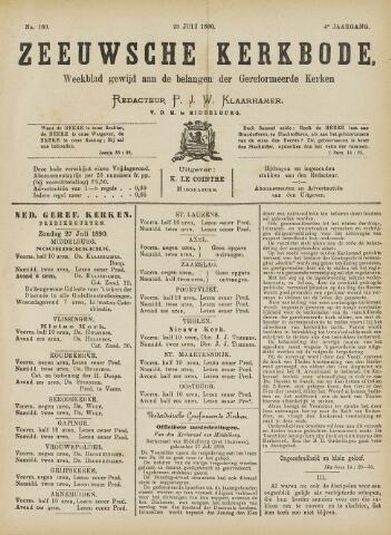 Zeeuwsche kerkbode, weekblad gewijd aan de belangen der gereformeerde kerken/ Zeeuwsch kerkblad 1890-07-26