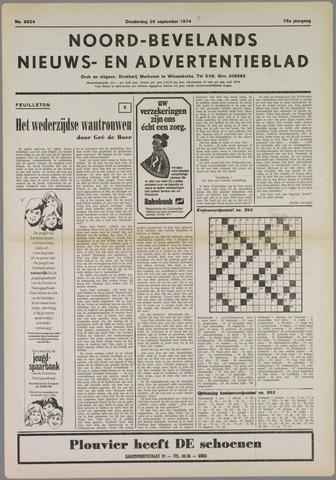 Noord-Bevelands Nieuws- en advertentieblad 1974-09-26