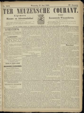 Ter Neuzensche Courant. Algemeen Nieuws- en Advertentieblad voor Zeeuwsch-Vlaanderen / Neuzensche Courant ... (idem) / (Algemeen) nieuws en advertentieblad voor Zeeuwsch-Vlaanderen 1888-06-27