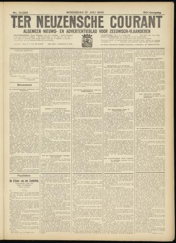 Ter Neuzensche Courant. Algemeen Nieuws- en Advertentieblad voor Zeeuwsch-Vlaanderen / Neuzensche Courant ... (idem) / (Algemeen) nieuws en advertentieblad voor Zeeuwsch-Vlaanderen 1940-07-10