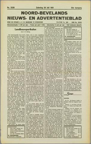 Noord-Bevelands Nieuws- en advertentieblad 1951-07-28