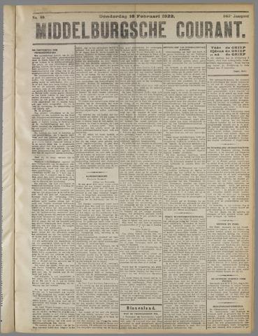 Middelburgsche Courant 1922-02-16