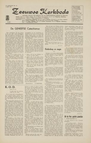 Zeeuwsche kerkbode, weekblad gewijd aan de belangen der gereformeerde kerken/ Zeeuwsch kerkblad 1964-06-05