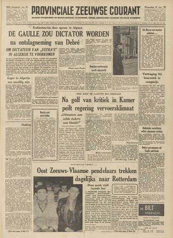 Provinciale Zeeuwse Courant 1960-01-27
