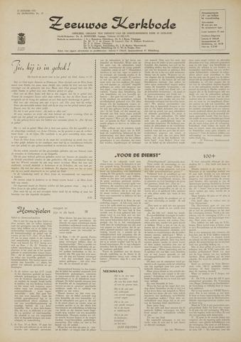 Zeeuwsche kerkbode, weekblad gewijd aan de belangen der gereformeerde kerken/ Zeeuwsch kerkblad 1970-01-22