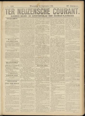 Ter Neuzensche Courant. Algemeen Nieuws- en Advertentieblad voor Zeeuwsch-Vlaanderen / Neuzensche Courant ... (idem) / (Algemeen) nieuws en advertentieblad voor Zeeuwsch-Vlaanderen 1921-09-28
