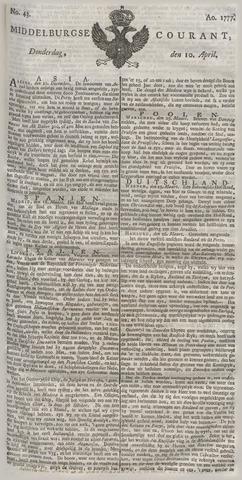 Middelburgsche Courant 1777-04-10