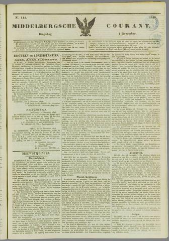 Middelburgsche Courant 1846-12-01