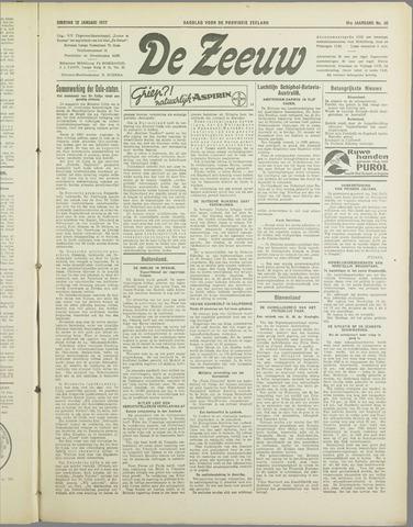 De Zeeuw. Christelijk-historisch nieuwsblad voor Zeeland 1937-01-12