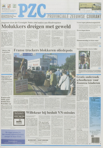 Provinciale Zeeuwse Courant 2000-09-05