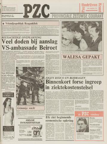 Provinciale Zeeuwse Courant 1983-04-19