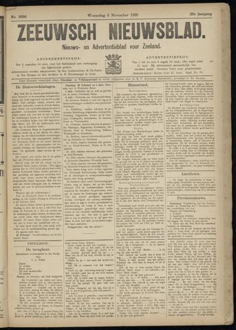 Ter Neuzensch Volksblad. Vrijzinnig nieuws- en advertentieblad voor Zeeuwsch- Vlaanderen / Zeeuwsch Nieuwsblad. Nieuws- en advertentieblad voor Zeeland 1918-11-06