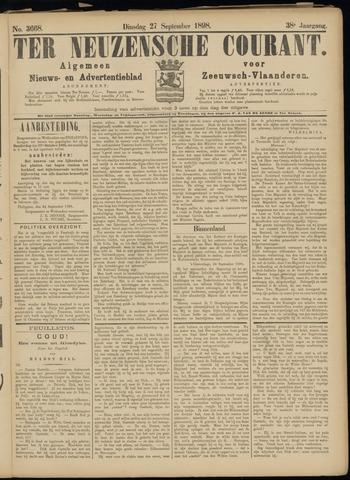 Ter Neuzensche Courant. Algemeen Nieuws- en Advertentieblad voor Zeeuwsch-Vlaanderen / Neuzensche Courant ... (idem) / (Algemeen) nieuws en advertentieblad voor Zeeuwsch-Vlaanderen 1898-09-27