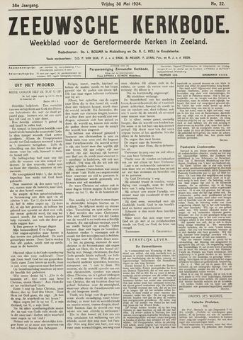 Zeeuwsche kerkbode, weekblad gewijd aan de belangen der gereformeerde kerken/ Zeeuwsch kerkblad 1924-05-30