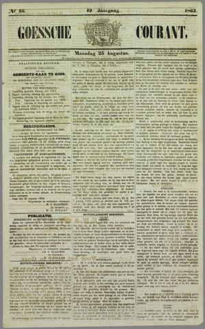 Goessche Courant 1862-08-25