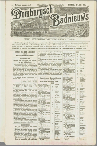 Domburgsch Badnieuws 1912