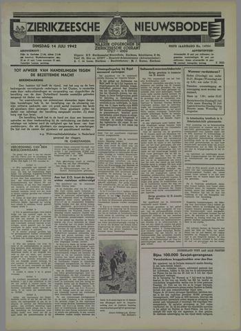 Zierikzeesche Nieuwsbode 1942-07-14