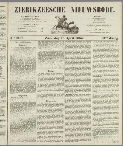 Zierikzeesche Nieuwsbode 1865-04-15