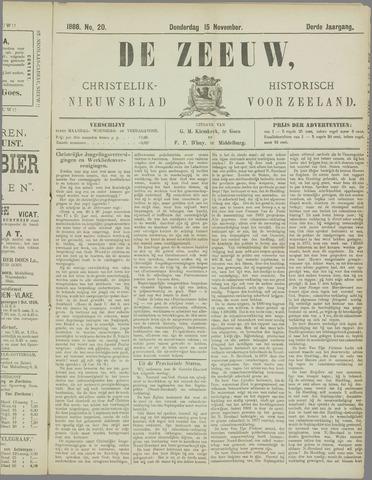 De Zeeuw. Christelijk-historisch nieuwsblad voor Zeeland 1888-11-15
