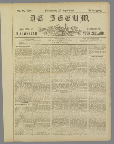 De Zeeuw. Christelijk-historisch nieuwsblad voor Zeeland 1901-09-26