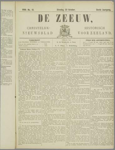 De Zeeuw. Christelijk-historisch nieuwsblad voor Zeeland 1888-10-23