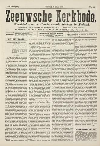Zeeuwsche kerkbode, weekblad gewijd aan de belangen der gereformeerde kerken/ Zeeuwsch kerkblad 1915-07-16