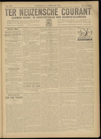 Ter Neuzensche Courant. Algemeen Nieuws- en Advertentieblad voor Zeeuwsch-Vlaanderen / Neuzensche Courant ... (idem) / (Algemeen) nieuws en advertentieblad voor Zeeuwsch-Vlaanderen 1932-02-10