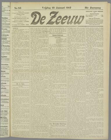 De Zeeuw. Christelijk-historisch nieuwsblad voor Zeeland 1917-01-12