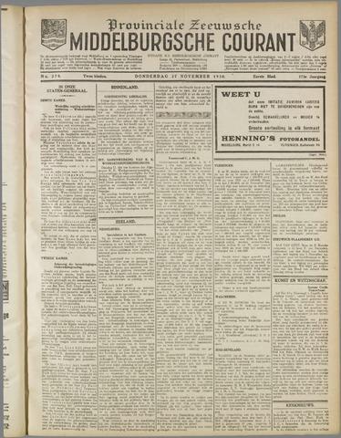 Middelburgsche Courant 1930-11-27