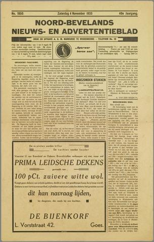 Noord-Bevelands Nieuws- en advertentieblad 1933-11-04