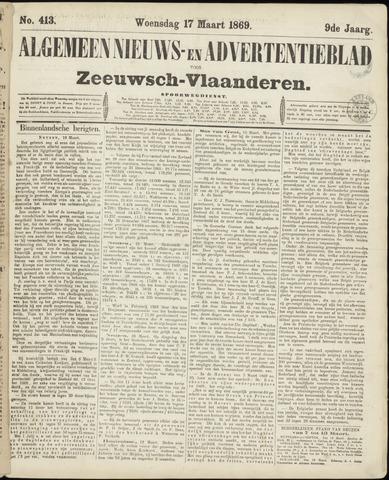 Ter Neuzensche Courant. Algemeen Nieuws- en Advertentieblad voor Zeeuwsch-Vlaanderen / Neuzensche Courant ... (idem) / (Algemeen) nieuws en advertentieblad voor Zeeuwsch-Vlaanderen 1869-03-17
