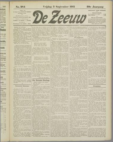 De Zeeuw. Christelijk-historisch nieuwsblad voor Zeeland 1915-09-03