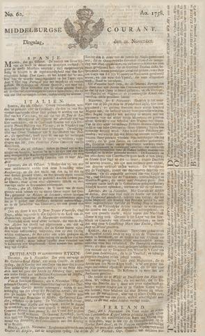 Middelburgsche Courant 1758-11-21