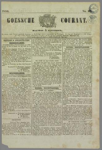 Goessche Courant 1853-09-05