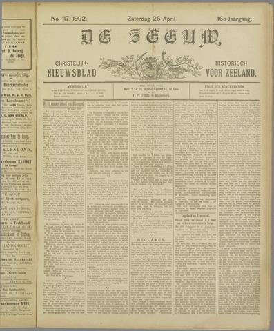 De Zeeuw. Christelijk-historisch nieuwsblad voor Zeeland 1902-04-26