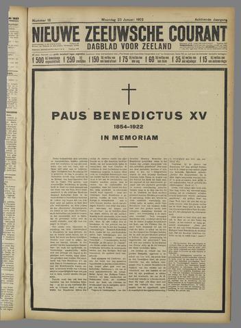 Nieuwe Zeeuwsche Courant 1922-01-23