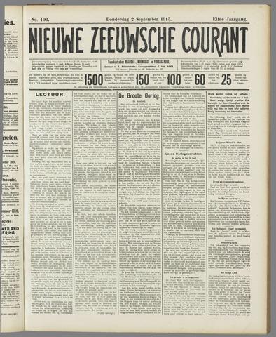 Nieuwe Zeeuwsche Courant 1915-09-02