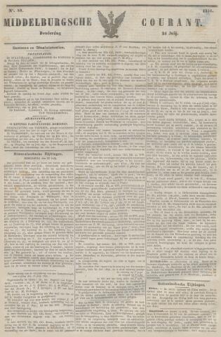 Middelburgsche Courant 1851-07-24