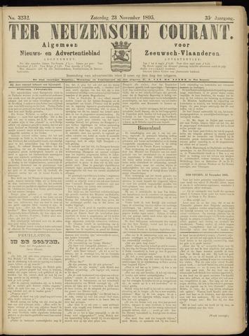Ter Neuzensche Courant. Algemeen Nieuws- en Advertentieblad voor Zeeuwsch-Vlaanderen / Neuzensche Courant ... (idem) / (Algemeen) nieuws en advertentieblad voor Zeeuwsch-Vlaanderen 1895-11-23