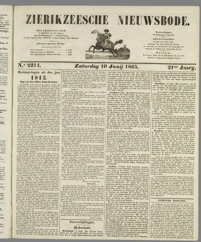Zierikzeesche Nieuwsbode 1865-06-10