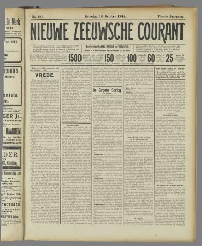 Nieuwe Zeeuwsche Courant 1914-10-10