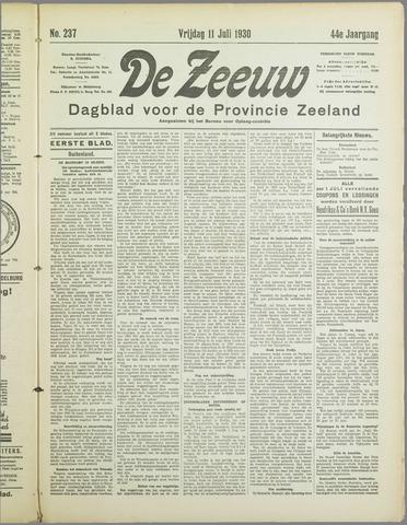 De Zeeuw. Christelijk-historisch nieuwsblad voor Zeeland 1930-07-11
