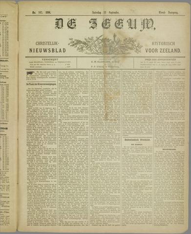 De Zeeuw. Christelijk-historisch nieuwsblad voor Zeeland 1896-09-12