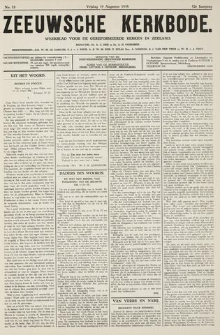 Zeeuwsche kerkbode, weekblad gewijd aan de belangen der gereformeerde kerken/ Zeeuwsch kerkblad 1938-08-19
