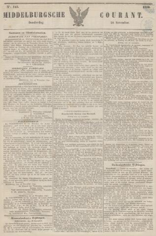 Middelburgsche Courant 1850-11-28