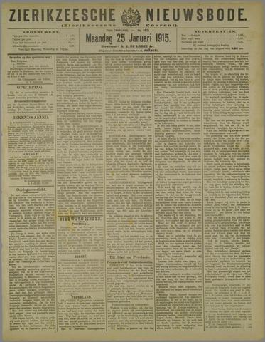 Zierikzeesche Nieuwsbode 1915-01-25